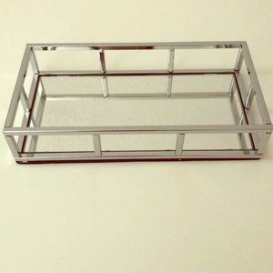 Danielle Creations Luxe Vanity Tray Chrome Finish